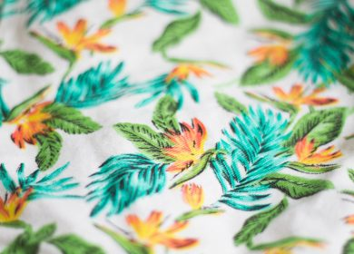 Floral patterned fabric